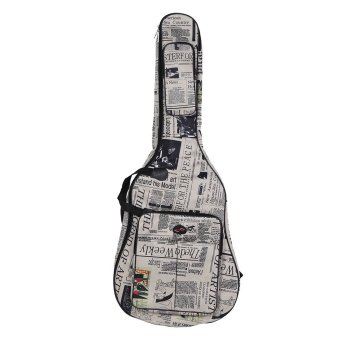 600D Water-resistant Oxford Cloth Newspaper Style Double Stitched Padded Straps Gig Bag Guitar Carrying Case for 41Inchs Acoustic Classic Folk Guitar