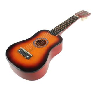Acoustic Guitar with Pick Beginners 21 Inch 6 String (Multicolor)