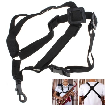 Adjustable Universal Sax Harness Shoulder Strap for Alto / Tenor / Soprano Saxophone - intl
