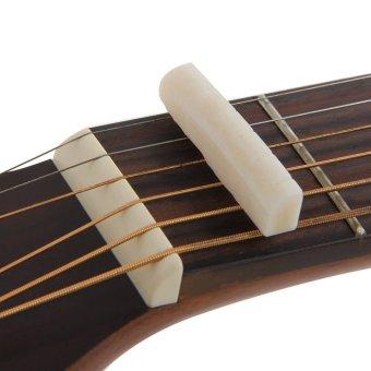 Amango Ivory Buffalo Bone Bridge Saddle And Slotted Nut For 6 String Acoustic Guitar