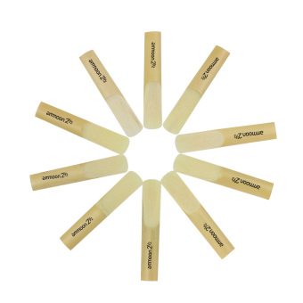 ammoon 10pcs Reeds Strength 2.5 2-1/2 Reed Bamboo for bB ClarinetAccessory Part - 2