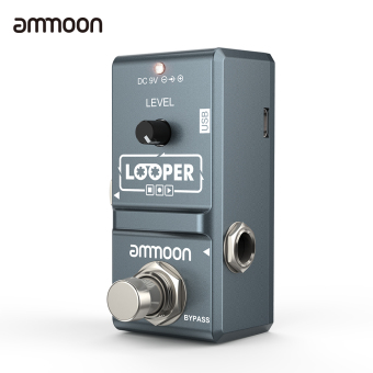 ammoon AP-09 Nano Loop Electric Guitar Effect Pedal Looper True Bypass Unlimited Overdubs 10 Minutes Recording with USB Cable Outdoorfree