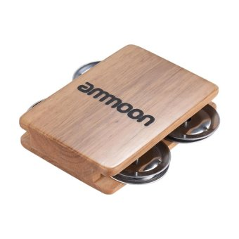ammoon Cajon Box Drum Companion Accessory 4-bell Jingle Castanetfor Hand Percussion Instruments Outdoorfree - intl Price Philippines