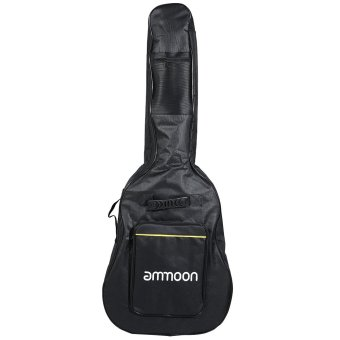 "ammoon Double Straps 5mm Padded 600D Big Case Cover Bag BackpackDouble Zipper Non-slip Pads Bottom for 40"" 41"" Guitar Price Philippines"