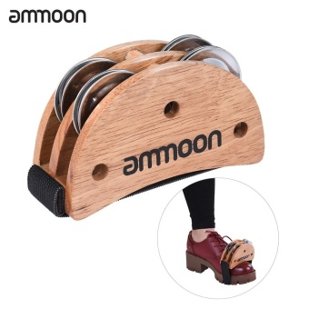 ammoon Elliptical Cajon Box Drum Companion Accessory Foot JingleTambourine for Hand Percussion Instruments Burlywood - intl Price Philippines