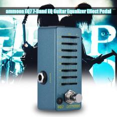 ammoon EQ7 Mini Guitar Equalizer Effect Pedal 7-Band EQ Aluminum Alloy Body True Bypass