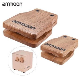 ammoon Large & Medium 2pcs Cajon Box Drum Companion AccessoryCastanets for Hand Percussion Instruments - intl Price Philippines