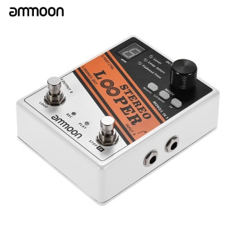 ammoon STEREO LOOPER Loop Record Guitar Effect Pedal 10 Independent Loops Max. 10min Recording Time for Each Loop Unlimited Overdubbing - intl - 2