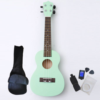 Angesi 23 Inch 12 Colors Ukulele Musical Instrument Hawaiian Small Guitar (Light Green) - Intl