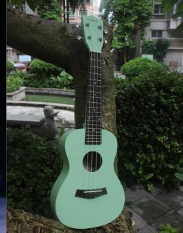 Angesi 23 Inch 12 Colors Ukulele Musical Instrument Hawaiian Small Guitar (Light Green) - Intl - 2