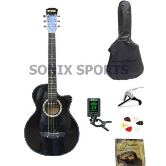 Arena 2EQ Acoustic Electric Guitar Package (Black) Price Philippines