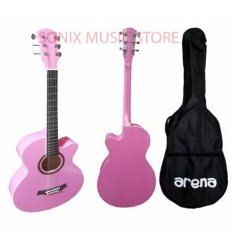 Arena Acoustic Guitar (PINK) FREE Bag Price Philippines