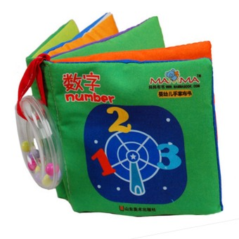 Baby Kids Mini Handy Early Educational Soft Cloth Book Figure Bookwith Pendant for 10-36 Months Old Kids