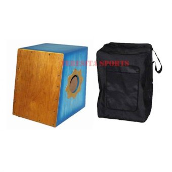 Beat Box Cajon with Pickup and Bag (Blue)