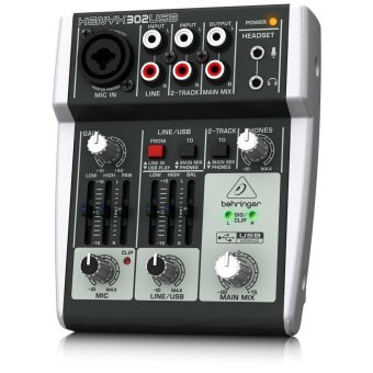 Behringer XENYX 302USB Premium 5-Input Mixer with XENYX Mic Preamp and USB/Audio Interface (Black)