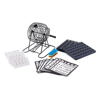 Bingo Set with Ball Holder (Black)