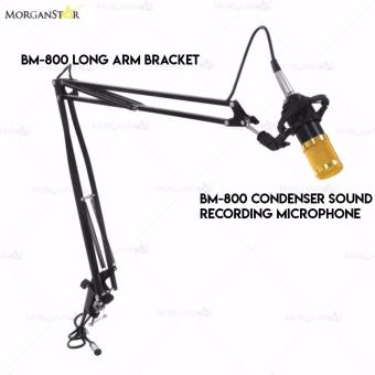 BM-800 Condenser Sound Recording Microphone + BM-800 Long Arm Bracket