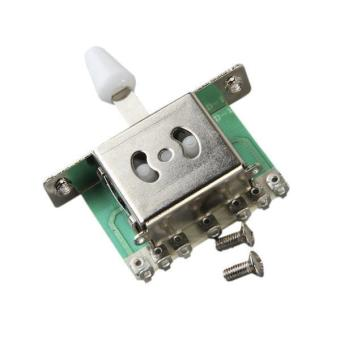 BolehDeals 5 Way Blade Switch w/ White Knob For Fender Strat Electric Guitar