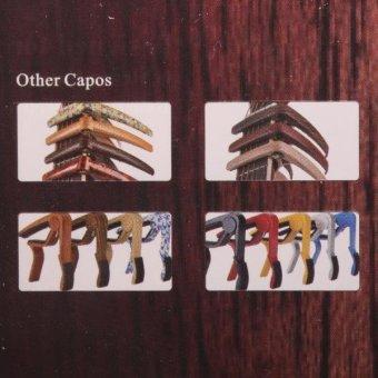 BolehDeals Acoustic Folk Guitars Capo Tuner Trigger Quick Change Clamp Key Rose Wood Grain - intl