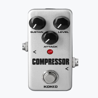BolehDeals Mini Effect Pedal Compressor with True Bypass for Electric Guitar Silver