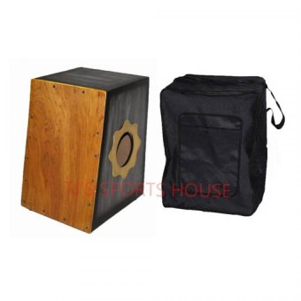 Cajon Beat Box with Pickup and Bag (Black)