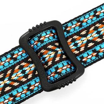Clip On Ukulele Strap Adjustable Ukelele Strap Neck Sling SoftCotton with Sound Hole Hook Ethnic Pattern Colorful - intl - 4