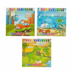 Colouring Book By Numbers Educational Childrens Coloring Set Of 3