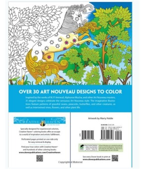 Creative Haven Art Nouveau Animal Designs Coloring Book - picture 2
