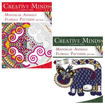 Creative Minds Coloring Books for Adults 1 & 2 - 2