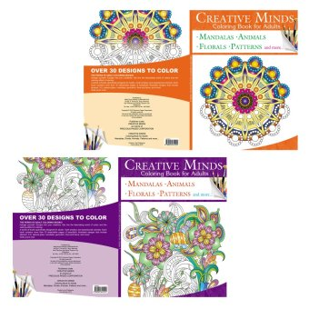 Creative Minds Coloring Books for Adults 3 & 4