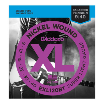 D'Addario EXL120BT Balanced Tension Super Light 09-40 Nickel Wound