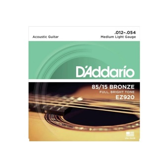 D'Addario EZ920 85/15 Bronze .012-.054 Acoustic Guitar Strings