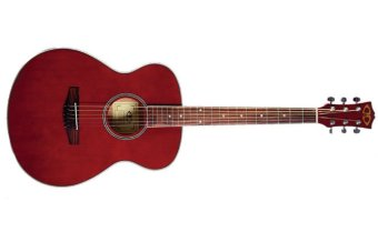 D&D Slim Starter Red Acoustic-Electric Guitar (Red Steel)