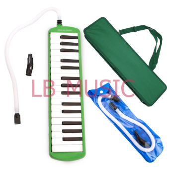 Davis 32 Keys Melodica with extra Tube and Mouthpiece Package(Green)