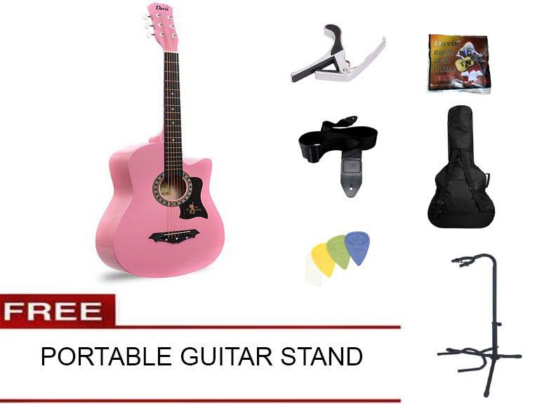 Philippines Davis Acoustic Guitar Starter Package Pink With Free