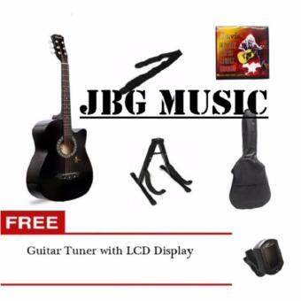 Davis Acoustic Guitar Sulit Package (Black) with FREE Guitar Tuner