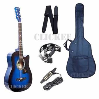Davis Best Bundles JG-38 Acoustic Guitar (Blue)