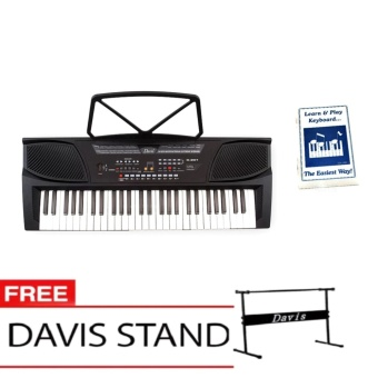 Davis D-201 Hot Picks Digital Keyboard (Black) with Free LearningModule & Davis Stand