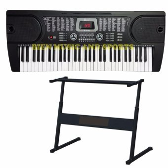 Davis D-619 61-Keys Digital Electronic Keyboard Piano Organ w/stand Package (Black)