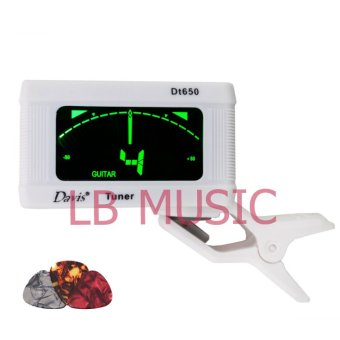Davis Digital Tuner For Guitar / Ukulele / Bass (White)