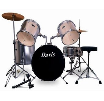 Davis DRS-08 Drum Set (Silver)