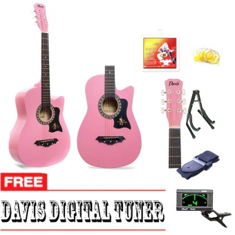 Davis Hot Picks Acoustic Guitar Package with FREE Guitar Tuner(Pink) Price Philippines