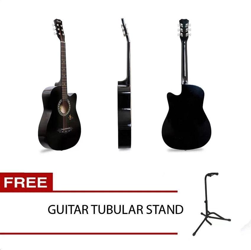 Philippines Davis Jg 38c Acoustic Guitar With 2 Band Eq Black