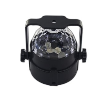 DJ light Sound Activated Party Lights Disco Ball, Renoliss Strobe Club lights Effect Magic Mini Led Stage Lights For Christmas Home KTV Xmas Wedding Show Pub - RGB 3W 7Color - intl