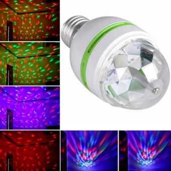 E27 3W Colorful Auto Rotating RGB LED Bulb Stage Light Party LampDisco - intl