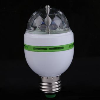 E27 3W Colorful Auto Rotating RGB LED Bulb Stage Light Party LampDisco - intl - 3