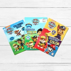 Easy To Learn Books Paw Patrol 3 Piece Coloring Book Set