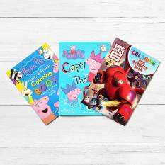 Easy To Learn Books Peppa Pig 2 Piece Coloring Book And Big Hero 6 Activity Set