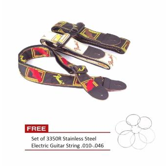 Electric Acoustic Guitar Adjustable Strap Leather Ends