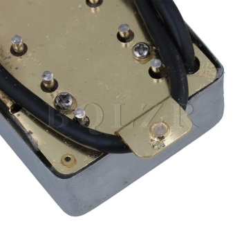 Electric Guitar Bridge & Neck Humbucker Pickup Set of 2 Silver- intl - 5